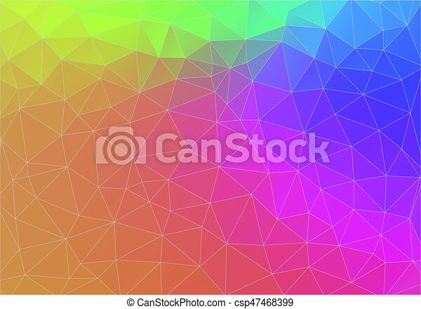Flat Triangle Gradient Color Wallpaper