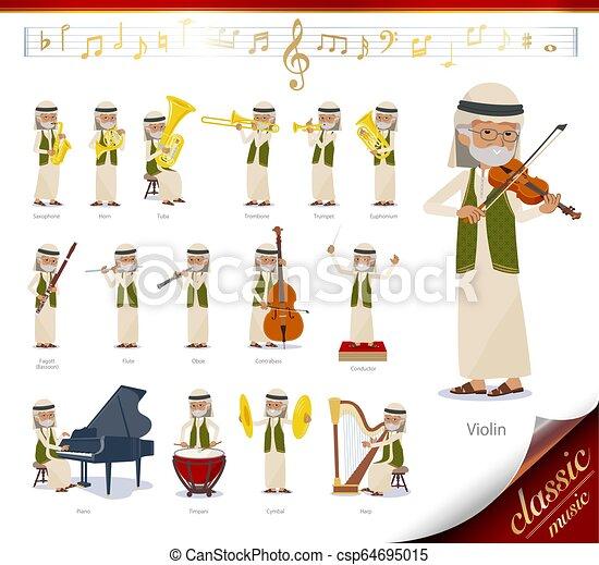 flat type Arab old men_classic music