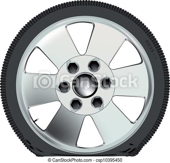 Flat Tyre - csp10395450
