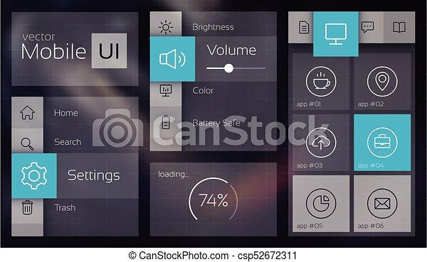 Flat UI Concept - csp52672311