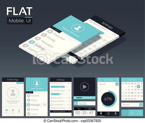 Flat ui mobile design template flat ui mobile design template with flat ui mobile design template csp53367825 maxwellsz