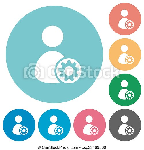 flat user profile settings icons flat user profile settings clip rh canstockphoto com clip art icons and symbols clipart construction