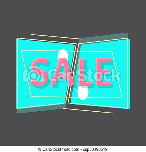 Flat vector sale discount symbol. Seasoning sale sticker concept - csp50490519