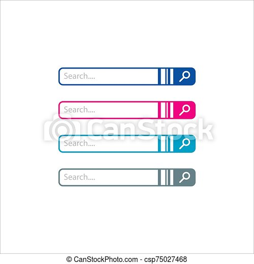 flat web design elements search bar vector icon graphic illustration - csp75027468