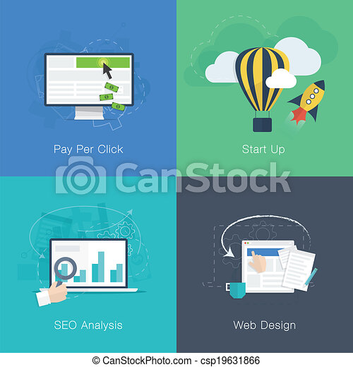 Flat web development business conce - csp19631866