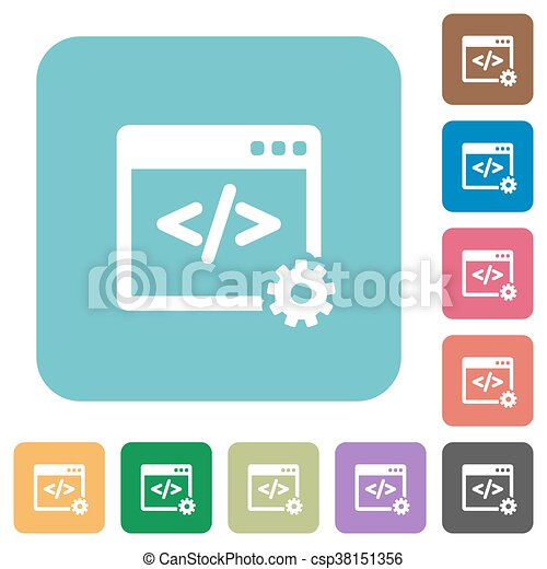 Flat web development icons - csp38151356