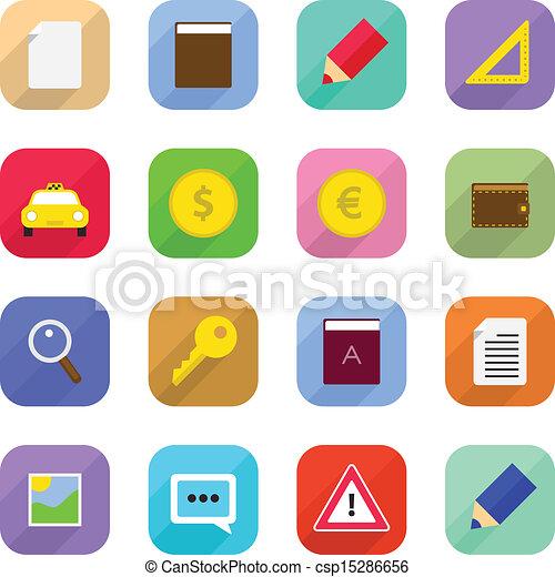 Flat Web Icons - csp15286656