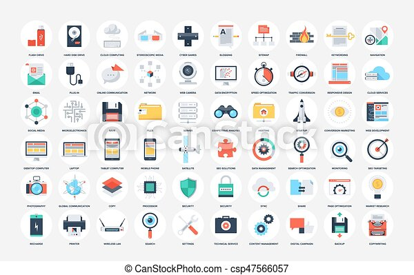 Flat Web Icons - csp47566057