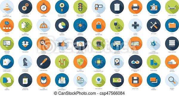 Flat Web Icons - csp47566084