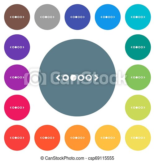 flat white icons on round color backgrounds - csp69115555