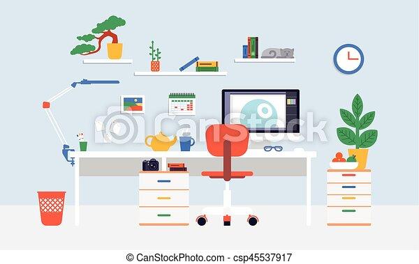 Flat Workspace Concept - csp45537917