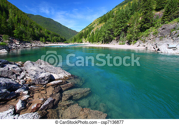 Flathead River Rapids - Montana - csp7136877