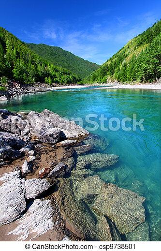 Flathead River Rapids Montana - csp9738501