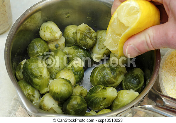 Flavoring Brussels Sprouts - csp10518223