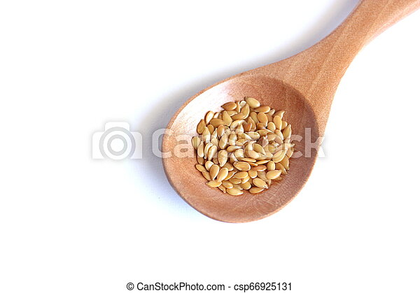 Flaxseed On White Background - csp66925131