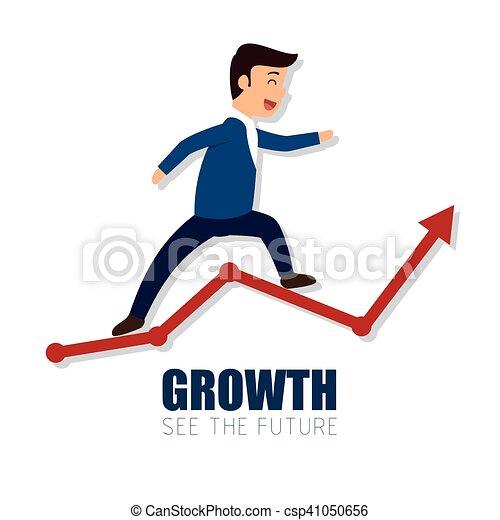 Growth Arrow exitoso hombre de negocios - csp41050656