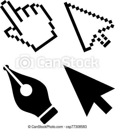 flecha, vector, cursor, icono - csp77308583