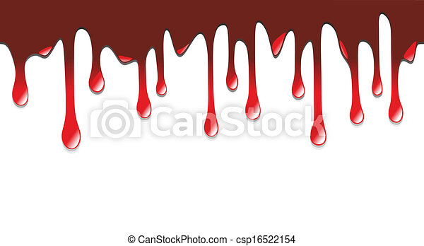 fleckenver2809a scary illustration of blood dripping on halloween rh canstockphoto com dripping blood clipart border Halloween Blood Drops