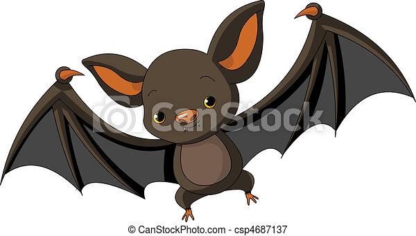 fledermaus, fliegendes, halloween - csp4687137