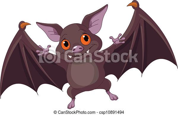 fledermaus, fliegendes, halloween - csp10891494