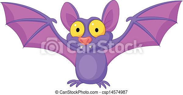 fledermaus, fliegendes, karikatur - csp14574987