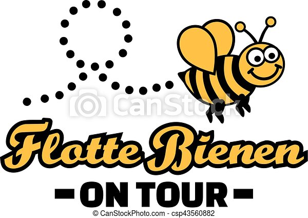 fleet bee on tour bachelorette party german vector search clip rh canstockphoto com