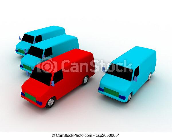 fleet of delivery vans - csp20500051