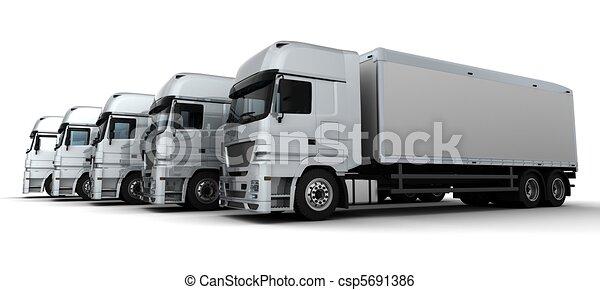 Fleet of Delivery Vehicles - csp5691386