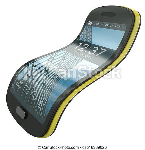 flessibile, smartphone - csp16389026