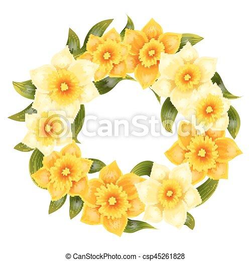 fleur lgant printemps jonquille leaves jaune tige raliste - Fleur Jonquille