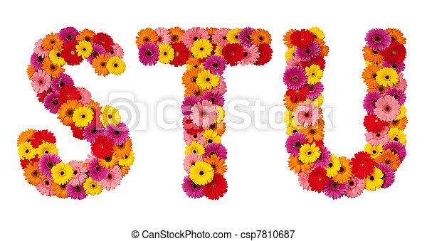 fleur alphabet isol s u t lettre blanc fleur lettre alphabet isol s u t. Black Bedroom Furniture Sets. Home Design Ideas