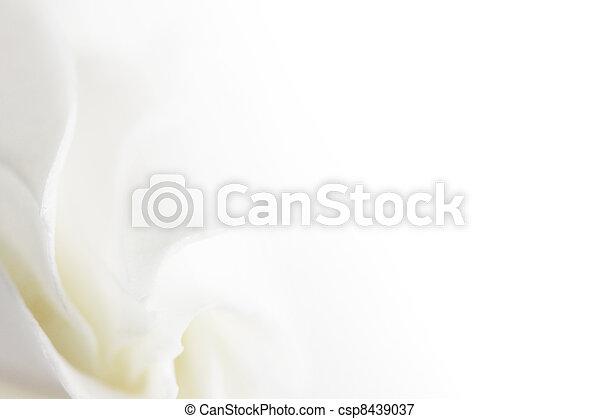 fleur blanche, doux, fond - csp8439037
