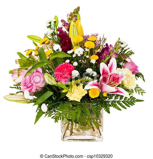 fleur, coloré, arrangement - csp10329320
