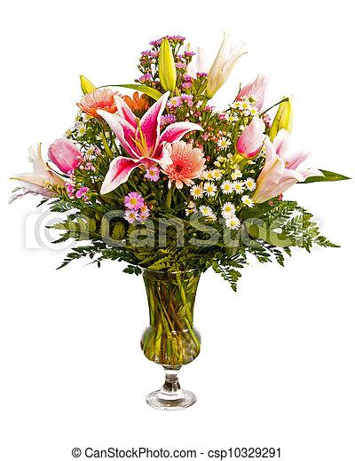 fleur, coloré, arrangement - csp10329291