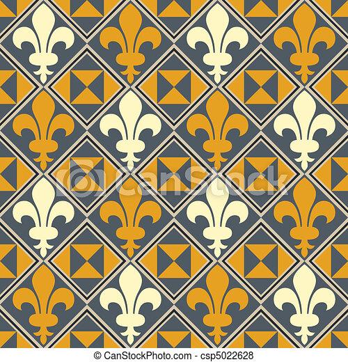 Fleur De Lis Pattern  - csp5022628