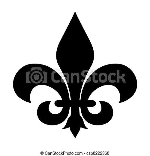 Fleur-de-lis symbol - csp8222368