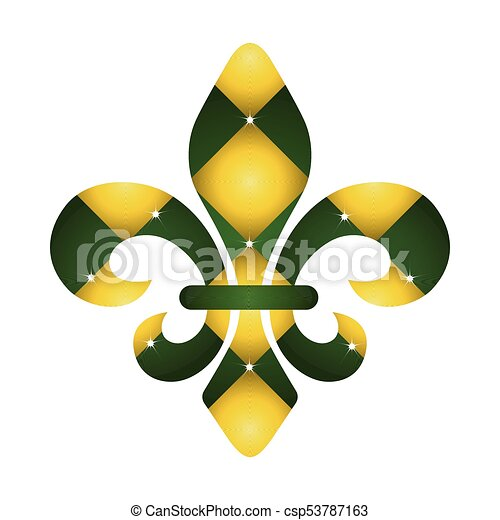 Fleur De Lys Symbol On A White Background Vector Illustration