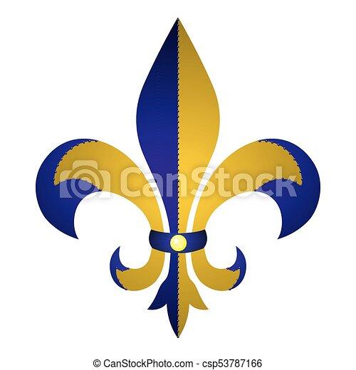 Fleur De Lys Symbol On A White Background Vector Illustration
