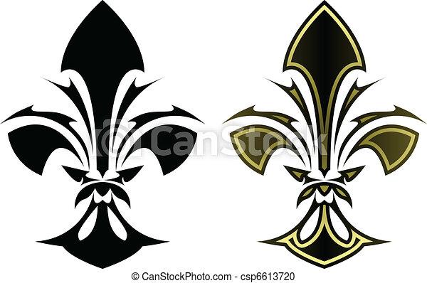 Fleur De Lys Tattoo Fleur De Lys Symbol In Stylized Tattoo Form