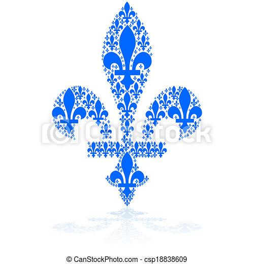 Fleur De Lys Concept Illustration Showing A Blue Fleur De Lys Icon