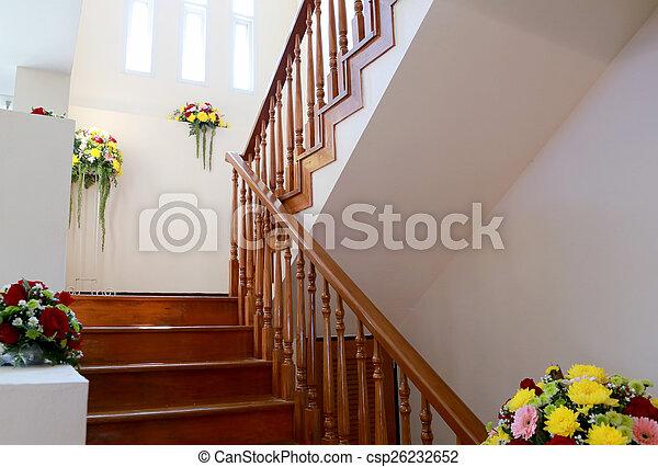 Fleur Escalier Maison Bois Interieur Nouveau