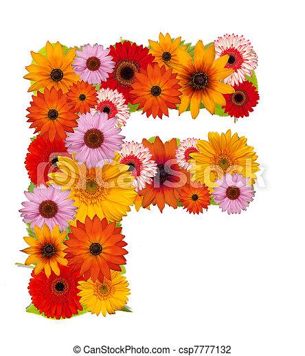 fleur lettre fleur f alphabet isol white lettre photo de stock rechercher images et. Black Bedroom Furniture Sets. Home Design Ideas
