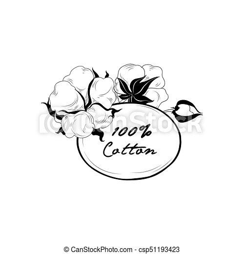 Fleur Naturel Cadre Materiel Signe Boll Label Floral Coton