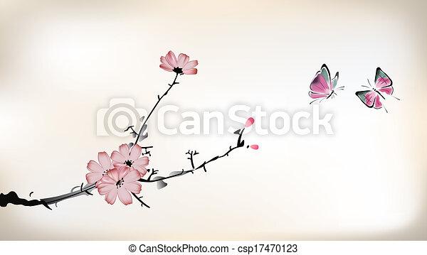 fleur, peinture - csp17470123
