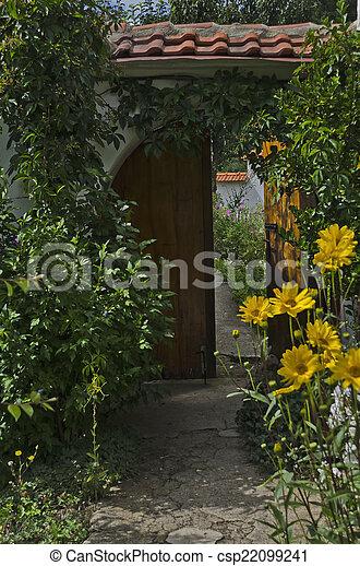 fleur, porte, entrée - csp22099241