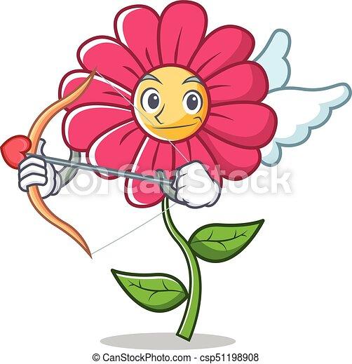 Fleur Rose Caractere Dessin Anime Cupidon Fleur Rose Caractere
