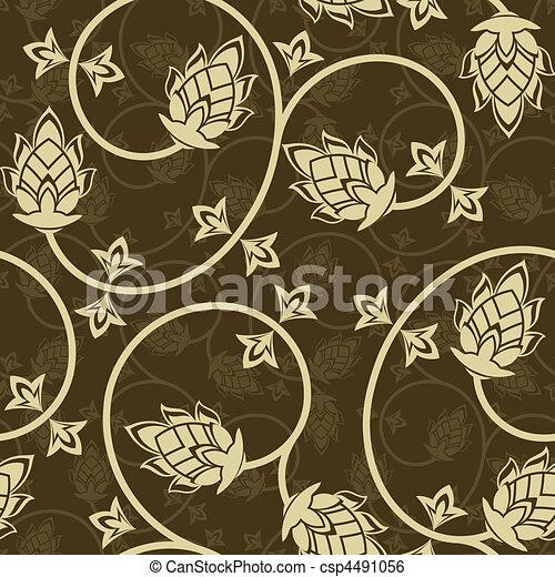 fleurs, beige - csp4491056