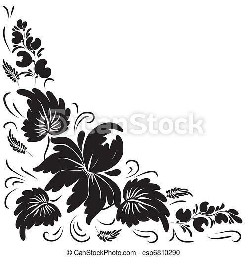 Fleurs Blanches Arrière Plan Noir
