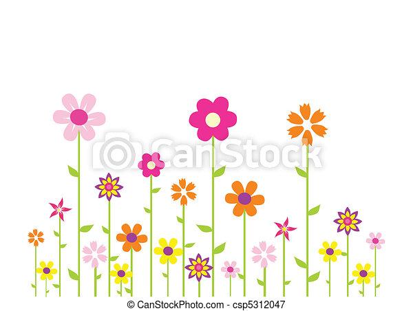 fleurs, coloré - csp5312047