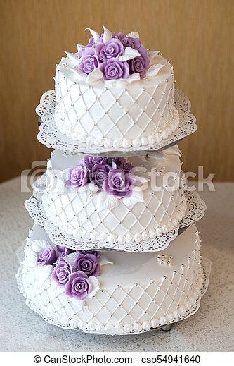 Fleurs Décoration Gâteau Mariage Décoré Baies Beau
